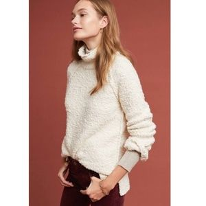 ANTHROPOLOGIE JULIETTE MOTH FLUFFY SWEATER